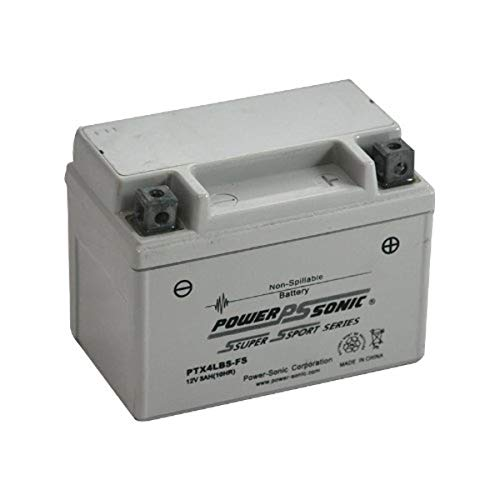 Power-Sonic (PTX4LBS-FS) Sealed Maintenance Free Powersport Battery