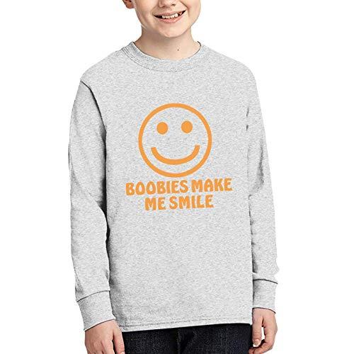 WJSDOWOWEN Boobies Make Me Smile Junior Langarm-T-Shirt, Gr. M