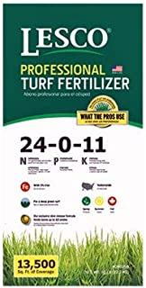 Lesco Professional, 50 LB, 13,500 SQFT Coverage, 24-0-11, Turf Fertilizer