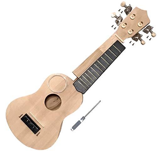 GLEOOD 手作りウクレレ 工作キット ウクレレキット 手づくり楽器