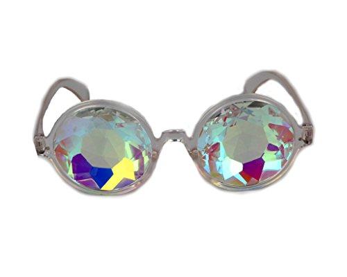 DODOING Kaleidoscope Gläser, Kaleidoskop Brillen, Rainbow Rave Prism Beugung