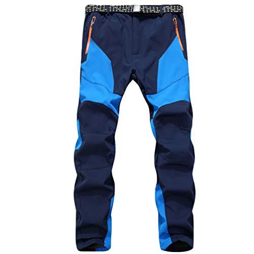 LaoZan Softshell Pantalones de Senderismo Impermeables Unisex Outdoor Pantalones a Prueba de...