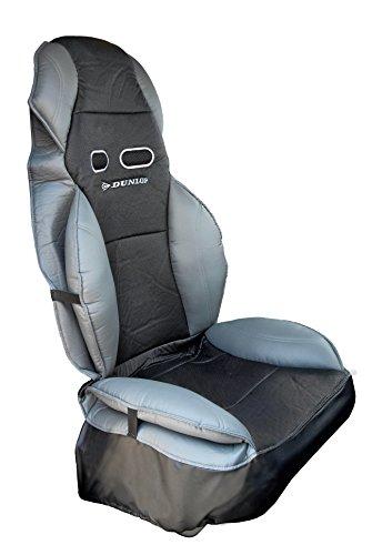 Dunlop 4080 Sitzbezug für Sport, mit Sitz und Rücken verstärkt mit Kissen, schwarz/grau