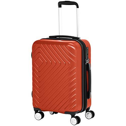 AmazonBasics 2 Piece Geometric Hard Shell Expandable Luggage Spinner Suitcase Set - Sunset