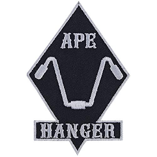 """Parche para motero, con texto en inglés """"APE Hanger Cruiser Patch Rocker"""" de metal resistente, regalo para conductores de cruiser, aplicación para chaqueta/chaleco/jeans/maleta de moto, 60 x 90 mm"""