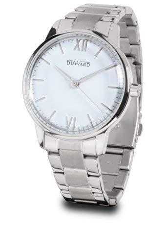 Duward Reloj Hombre Acero con Esfera Blanca,acuatico 5ATM.D95303.01