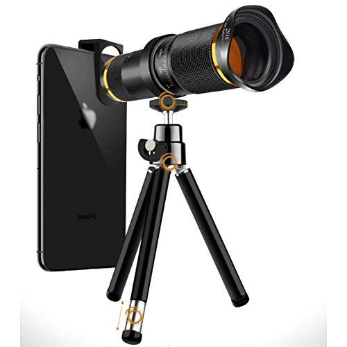 Kit De Lentes De Cámara De Teléfono, Teleobjetivo con Zoom De 20x, Lente De Ojo De Pez con Lente Recubierta 4K HD con Trípode Extensible para iPhone, Teléfono Android