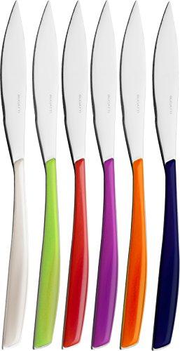 BUGATTI Set 6 coltelli Bistecca Glamour Multicolor