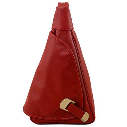 Tuscany Leather Hanoi Rucksack Tropfendesign aus Leder Rot