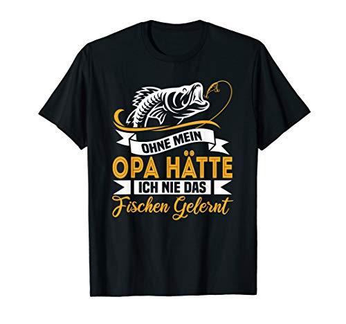 Fischen T-Shirt Lustiges Fischer Opa Enkel Angler Geschenk