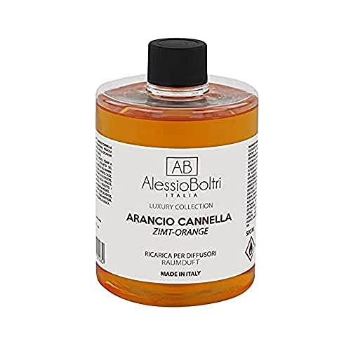 AB Alessio Boltri - Ricarica per diffusori Luxury 500 ml, profumazione Arancio Cannella
