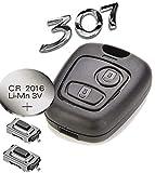 Automobile Locksmith - Kit para arreglar llave de mando a distancia de 2 botones para Peugeot 307 / Citroen