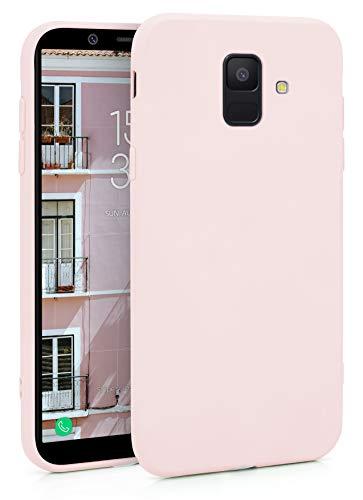 MyGadget Coque Silicone pour Samsung Galaxy A6 2018 TPU Case - Housse Protection - Bumper Étui Flexible & Léger Anti Choc et Rayures - Rose