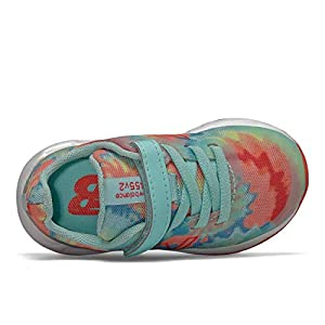 New Balance Kid's 455 V2 Alternative Closure Running Shoe, Bali Blue, 9 M US Toddler