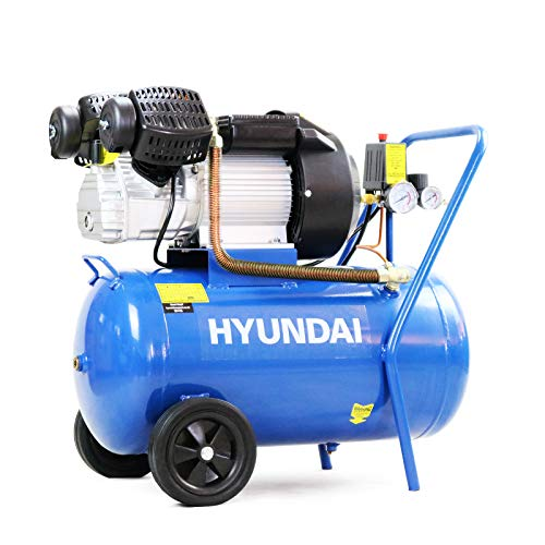 Hyundai Electric HY3050V, 50L, 14CFM, 3HP, 2.2kW, 50 Litre, 8bar / 116psi, Powerful, Includes 5...