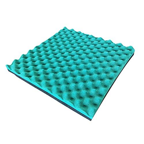 YMQ Paquete de 10 Paneles acústicos, 2 x 19,7 x 19,7 Pulgadas, Paneles de Pared insonorizados de Goma de Alta Densidad, cuñas de insonorización de Estudio Autoadhesivas(Color:Verde)