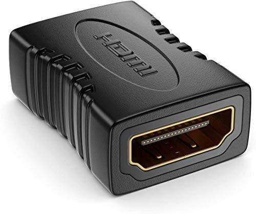 HDMI-Koppler, HDMI-Buchse auf Buchse, vergoldet, Hochgeschwindigkeits-HDMI-Verlängerungsadapter, HDMI-Verbindungsstück mit 4K @ 60Hz UHD, 1080p Full HD, 3D, HDR, ARC, Ethernet (1 Stück)