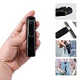 HD 1080P Mini Cuerpo cámara Oculta espía cámara portátil Video grabadora Loop Recording Portable Clip Body cámara desgastada con Unidad Flash USB ( Color : +128G Memory Card )