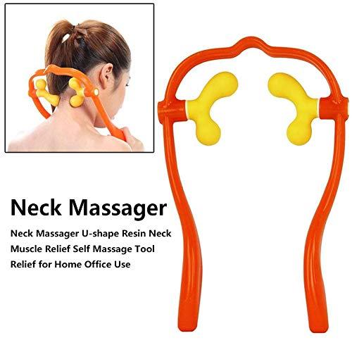 Paradesour Nackenmassagegerät, Druckpunkt, Shiatsu Tiefengewebe, Dual Triggerpunkt-Schultermassagegerät, U-Form, bequemes manuelles Massagegerät für Nackenmuskulatur Schmerzlinderung Zuhause Büro