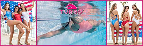 Turbo - Bañador Sinchro SINCRO Profesional Señora, Traje de Baño de Natacion Entrenamiento Competicion, Tira Estrecha Doble Capa (L/34)