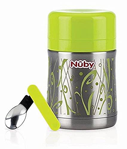 Nuby ID5470 Thermo Essensbehälter mit Löffel und Aufbewahrungsfach für...
