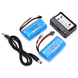 7.4V Lithium Battery, Lithium Battery 7.4V Light Weight for Cars for Remote Control Racing Drones