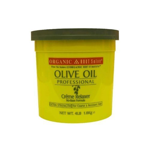 Organic Root Stimulator Olive Oil Professional Creme Relaxer, Extra Strength, 64 Ounce by Organic Root Stimulator