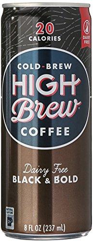 High Brew Coffee, Cold Brew, Dairy Free Black & Bold, 8 Fl Oz