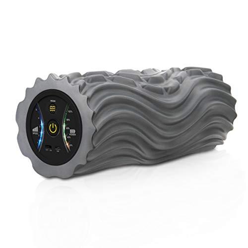 Vibrierend Schaumstoffrolle Elektrische Massagerolle mit 2200mAh Wiederaufladbar Lithiumbatterie, 5 Vibrationsstufen Muskel Massagegerät für Faszientraining, Verspannungen, Yoga Selbstmassagerolle
