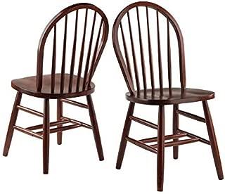 Winsome Windsor 2-PC Set RTA Walnut Chair