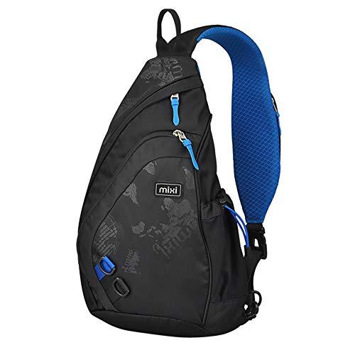Hanke Sling Chest Bag Shoulder Backpack Crossbody Bag Daypack for School Cycling Hiking Camping Sport Travel
