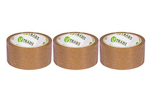 V1 Trade - Paketklebeband, Braun Klebeband Packband - SOLVENT Packtape (48 mm x 66 m (3 Stück))