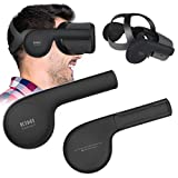 KIWI design Oculus Quest Silikon Ohrenschützer VR Headset, eine Verbesserte Klanglösung für Oculus Quest Zubehör (Schwarz, 1 Paar)