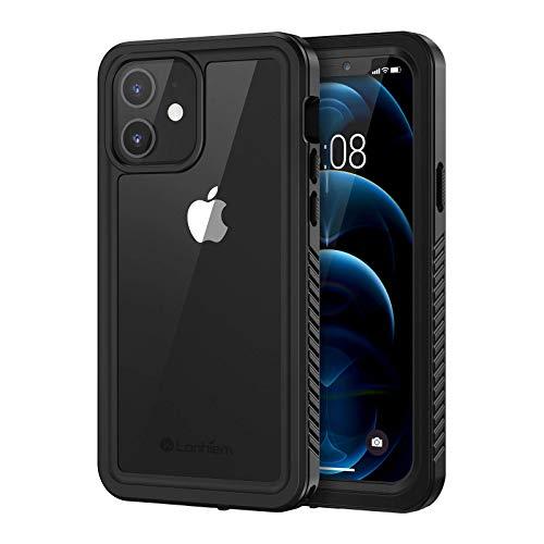Lanhiem Funda Impermeable iPhone 12, [No para iPhone 12 Pro] Carcasa Sumergible Resistente Al Agua IP68 [Protección de 360 Grados], Carcasa para iPhone 12 5G con tector de Pantalla Incorporado