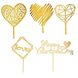 Supvox Cake Toppers Cake Picks Cupcake Decor para San Valentín 5pcs / Set