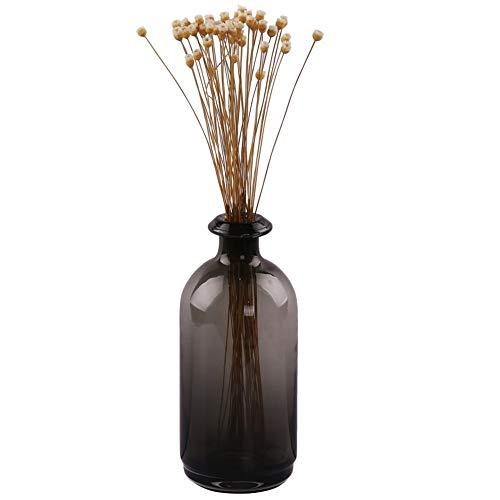 "Hand Bowl Glass Vase - Bud Flower Vases, Decorative Bottles, Elegant Antique Decoration, Small Glass Flower Vases (Smoke Gray, Tall(TD 1.7"" BD 3.3"" H 8.2""))"