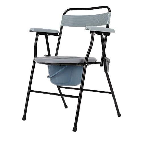 Z-SEAT Silla de Ducha médica con Inodoro para mesita de Noche - Asiento de Inodoro portátil Impermeable de Acero Inoxidable para Personas Mayores, discapacitados