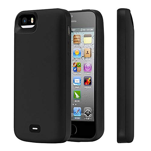 KERTER Battery Case for iPhone 5/5S/SE, [4000mAh] Rechargeable Extended...