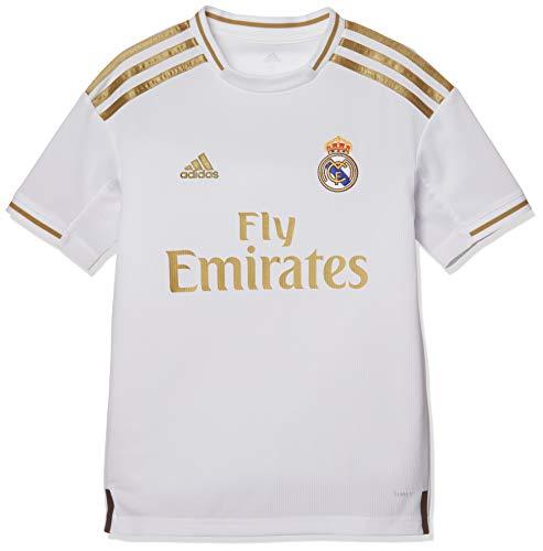 Real Madrid Home Jersy Fußballtrikot mit kurzen Ärmeln, weiß, 1314 (L)