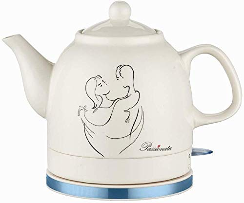 Bouilloires électriques en céramique Bouilloire sans fil Teapot-Retro 1.2L Jug, 1200W eau rapide for thé rapide (Couleur: B) 8bayfa (Color : A)