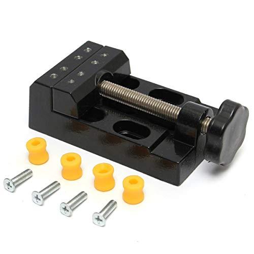 Sourcemall Flacher Mini-Schraubstock, Tischklemme, Schraubstock, Werkzeug für Hobbyarbeiten