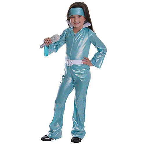 Bristol Novelty Cc530 Costume de Popstar Diva pour Fille, Taille, Bleu, Grand