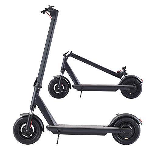 Electric Kick Scooter - 350W Max Speed 18.6 Mph,25 Miles Long Range Battery,10inch Solid Wheels,Foldable & Protable for Adults Commuters (X-Large)