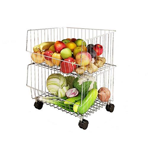 Best Prices! HXF- Fruit Vegetable Storage Rack Kitchen Storage Floor Multi-layer Plastic Household F...
