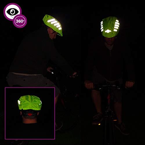 BTR fahrradhelm regenüberzug. Helm Cover. Wasserdichter helmüberzug,Reflexband - 4