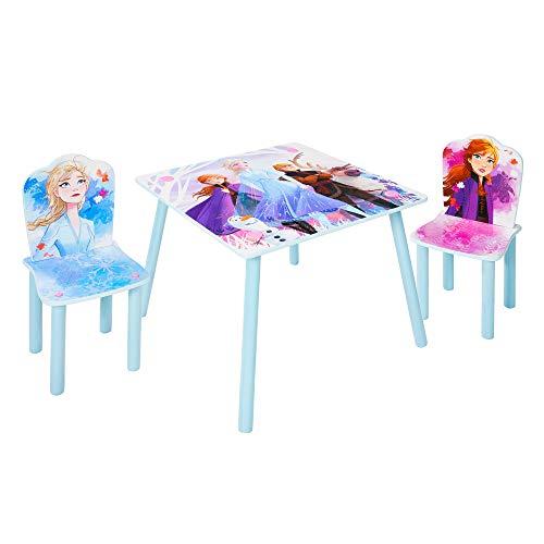 Frozen Set aus Tisch und 2 Stühlen für Kinder, 45 63 (Annäherungswerte): 29,5 (B)x 52,5 (H)x 29cm (T)