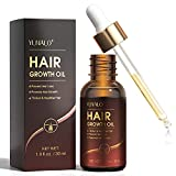 Hair Growth Oil with Biotin and Castor, Hair Growth Serum for Thicker Longer Healthier Hair, Promotes Hair Regrowth, Prevent Hair Loss and Thinning, Hair Regrowth Treatment Oil Gifts for Men and Women