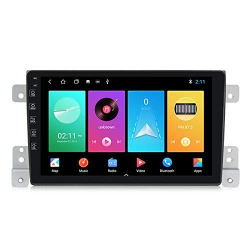 Android Radio Coche 2 DIN GPS Navi Autoradio estéreo 2.5D Pantalla táctil para Suzuki Vitara FM Receptor móvil Enlace de Espejo con incorporado Carplay+DSP(M300/PX6),M150,2+32G