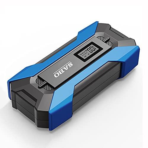 TOTMOX 12 V 10000 mAh portátil Auto Power Bank Cargador de batería externo con abrazaderas de adaptador universal caja de almacenamiento de cable de carga