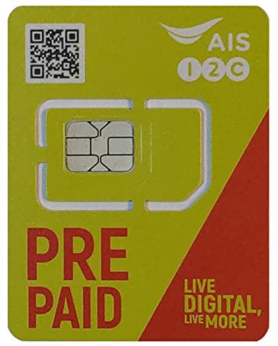 AIS タイ国内用プリペイドSIM 8日間 データ通信15GB
